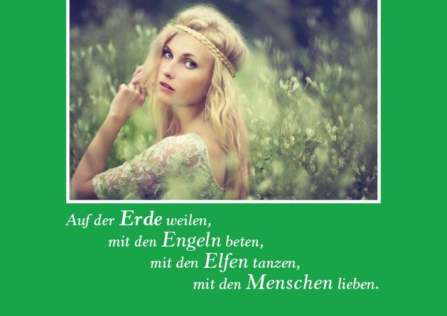 Poesie-Postkarte 018_Engel Elfen Menschen