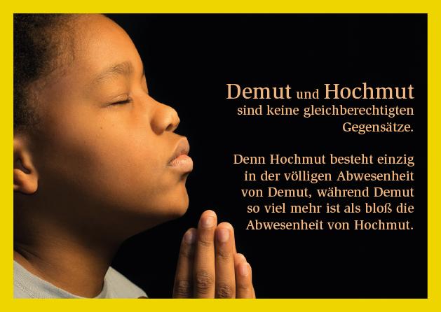 Poesie-Postkarte 045_Demut und Hochmut