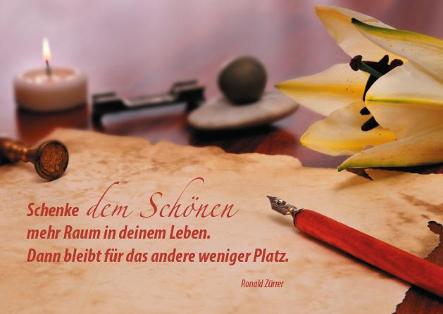 Poesie-Postkarte 021_Schenke dem Schönen mehr Raum