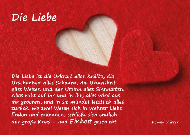 Poesie-Postkarte 007_Einheit durch Liebe