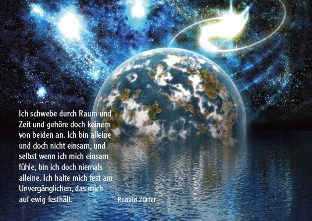 Poesie-Postkarte 002_Ich schwebe durch Raum und Zeit