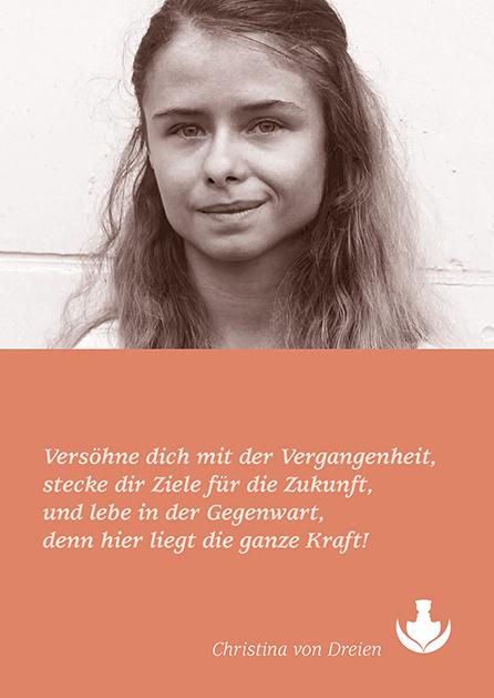 Poesie-Postkarte 156_Lebe in der Gegenwart