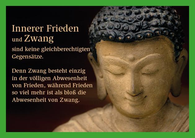Poesie-Postkarte 048_Frieden und Zwang