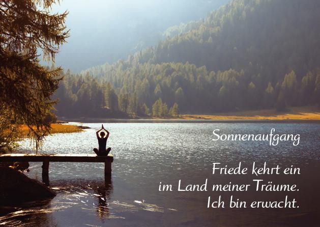 Poesie-Postkarte 152_Sonnenaufgang